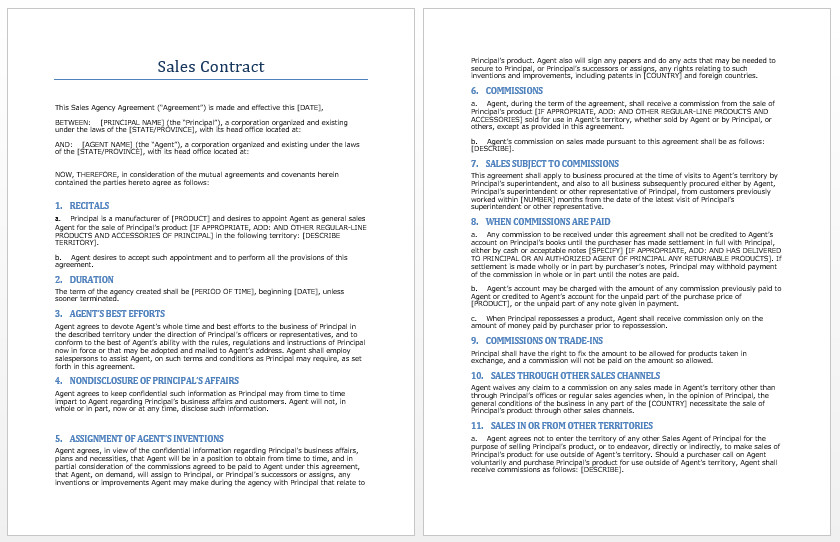 Microsoft Word Contract Template Sales Contract Template Microsoft Word Templates