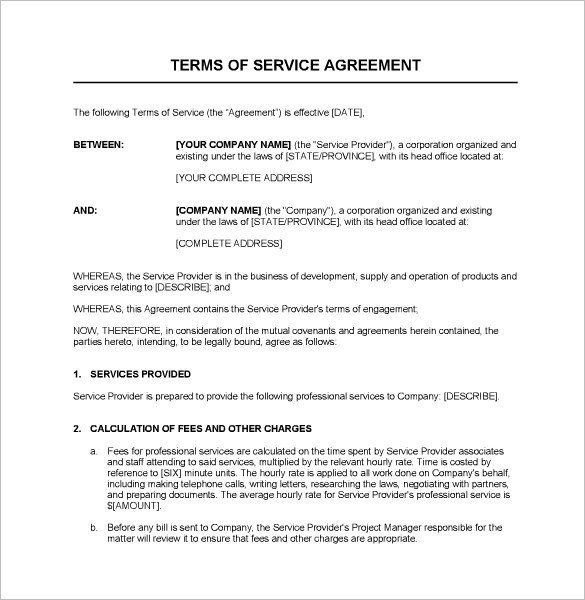 Microsoft Word Contract Template Service Contract Templates – 14 Free Word Pdf Documents