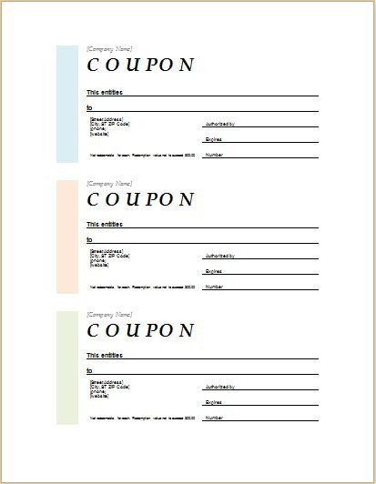 Microsoft Word Coupon Template How to Make Coupons with Sample Coupon Templates