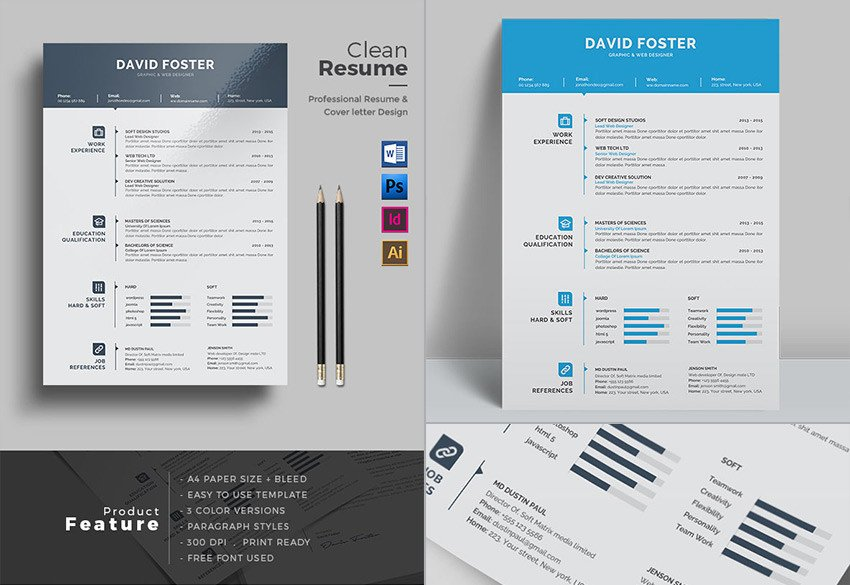 Microsoft Word Design Templates 20 Professional Ms Word Resume Templates with Simple Designs