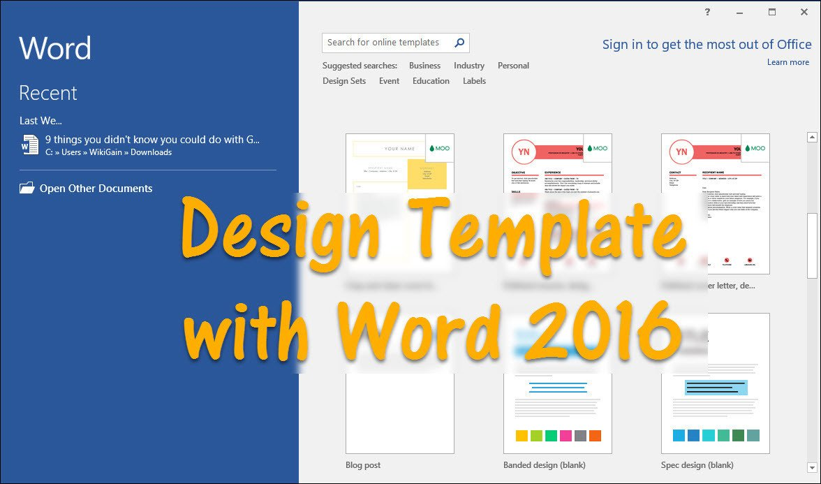 Microsoft Word Design Templates How to Design Template with Word 2016 Wikigain