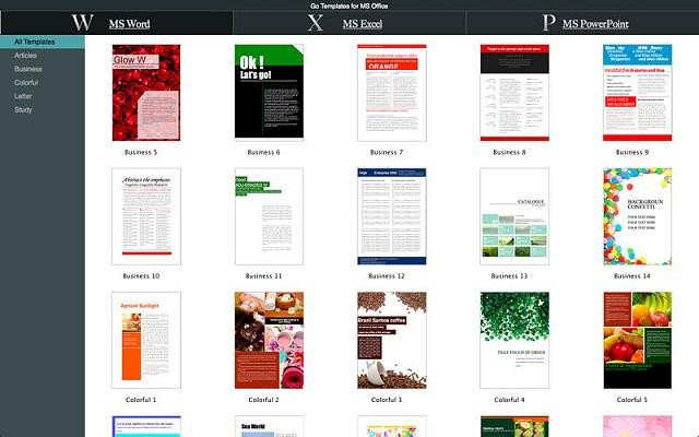 Microsoft Word Design Templates New App Go Templates for Ms Fice iPhone Ipad iPod