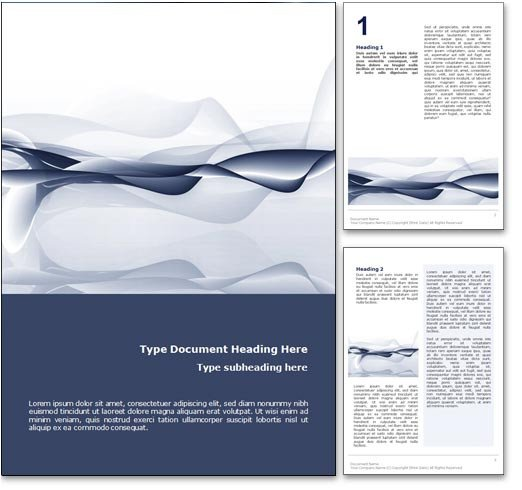 Microsoft Word Design Templates Royalty Free Abstract Ocean Microsoft Word Template In Blue