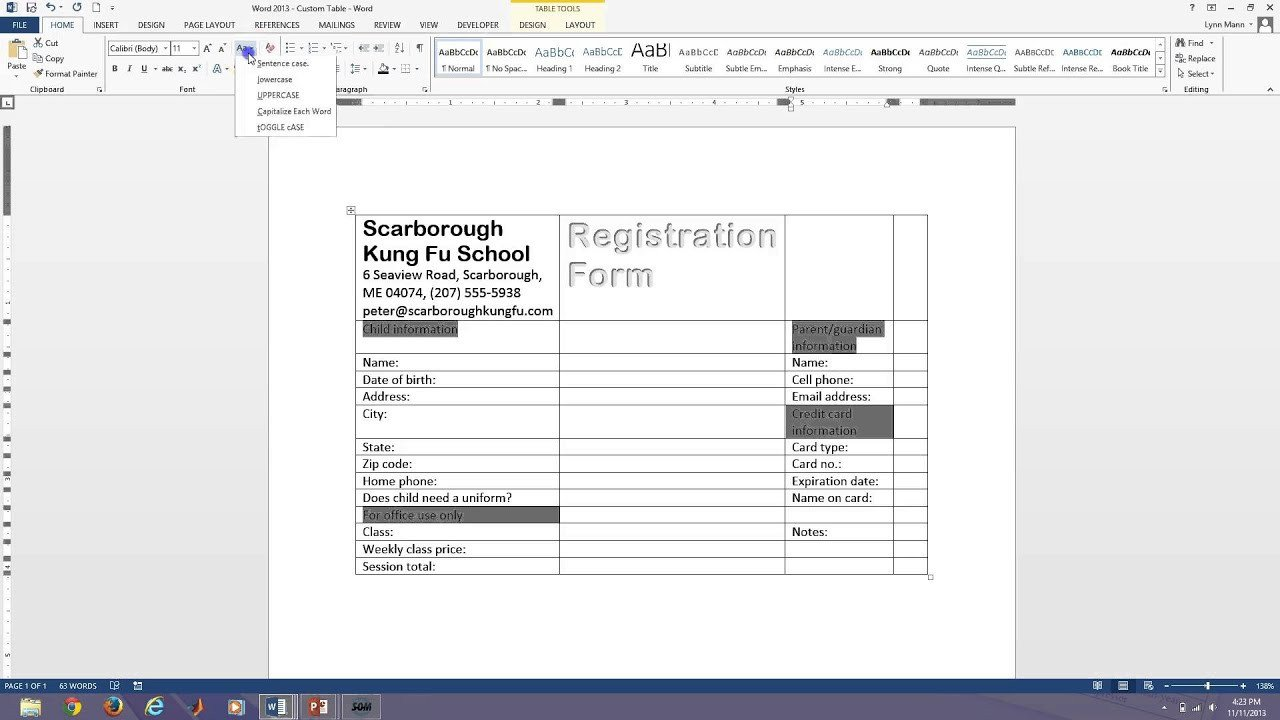 Microsoft Word forms Template Word 2013 Fillable forms