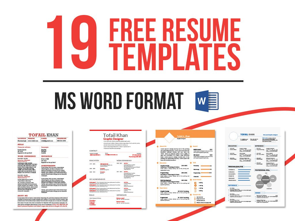 Microsoft Word Free Templates 19 Free Resume Templates Download now In Ms Word On Behance
