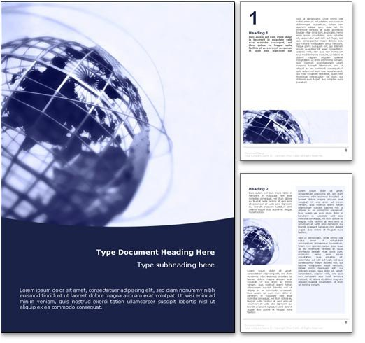 Microsoft Word Free Templates Royalty Free World Globe Microsoft Word Template In Blue