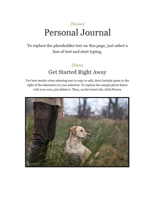 Microsoft Word Journal Templates Personal Journal Fice Templates