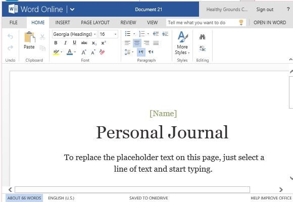 Microsoft Word Journal Templates Personal Journal Template for Word Line