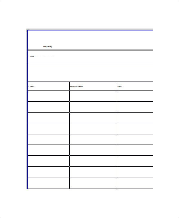 Microsoft Word Journal Templates Word Diary Template 5 Free Word Documents Download