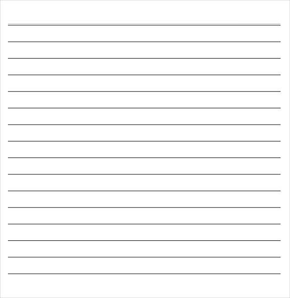 Microsoft Word Lined Paper Template A5 Lined Paper Printable Printable 360 Degree