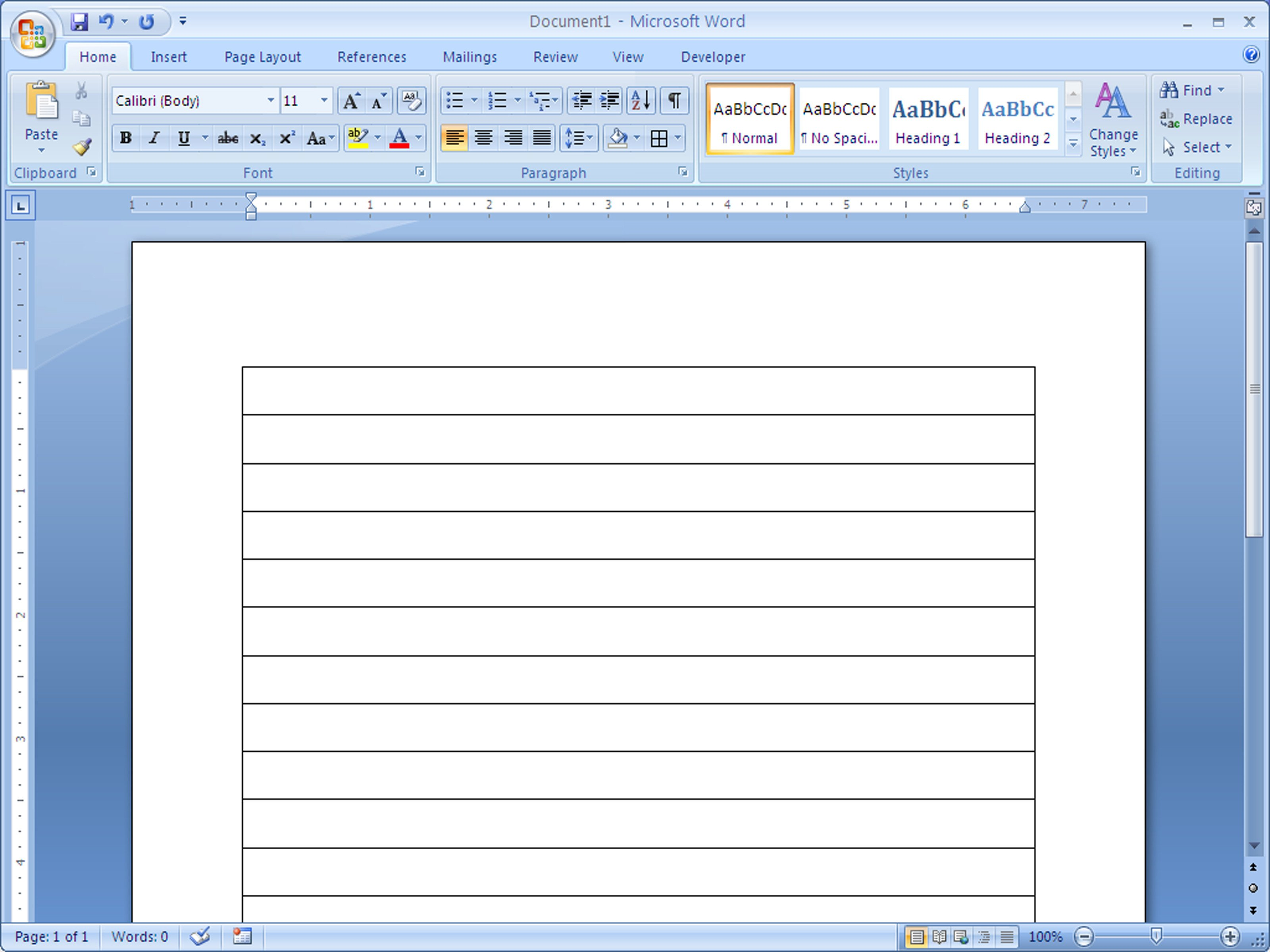 Microsoft Word Lined Paper Template How to Make Lined Paper In Word 2007 4 Steps with
