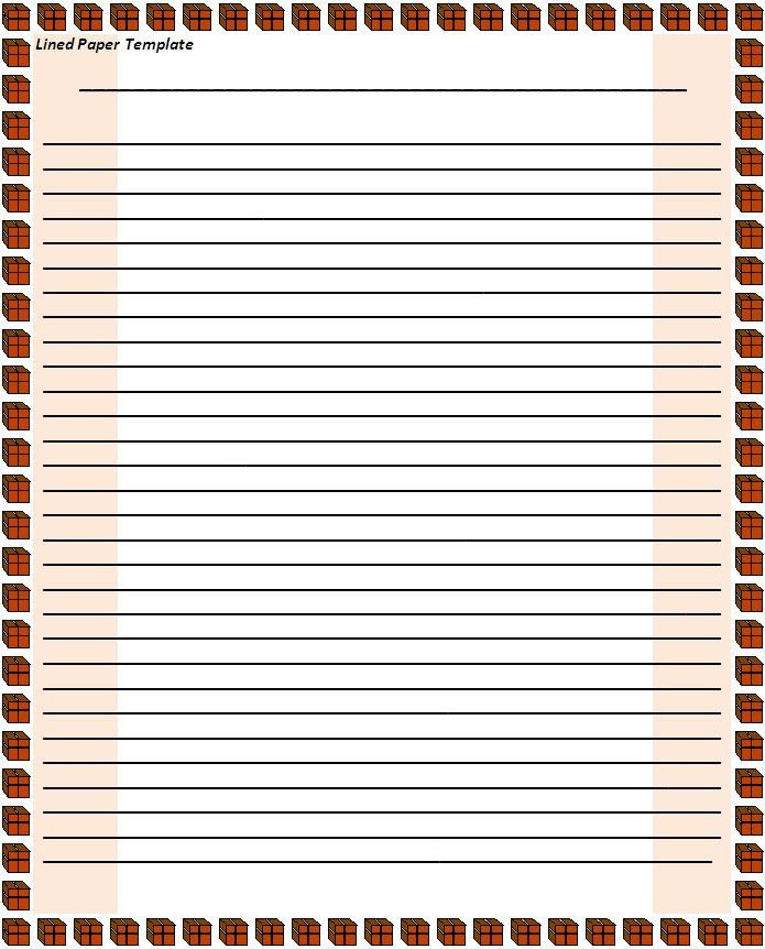 Microsoft Word Lined Paper Template Lined Paper Template