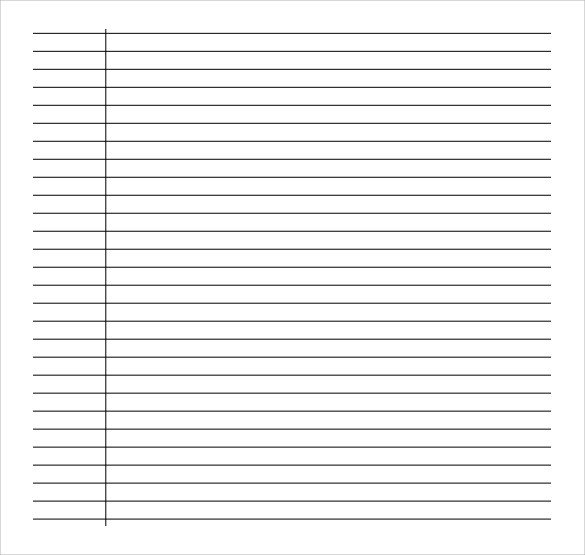 Microsoft Word Lined Paper Template Sample College Ruled Paper Template 9 Free Documents In