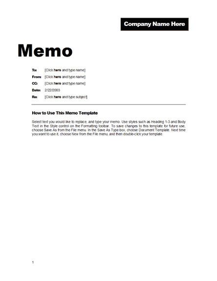 Microsoft Word Memo Templates Fice Memo format Free Template Downloads