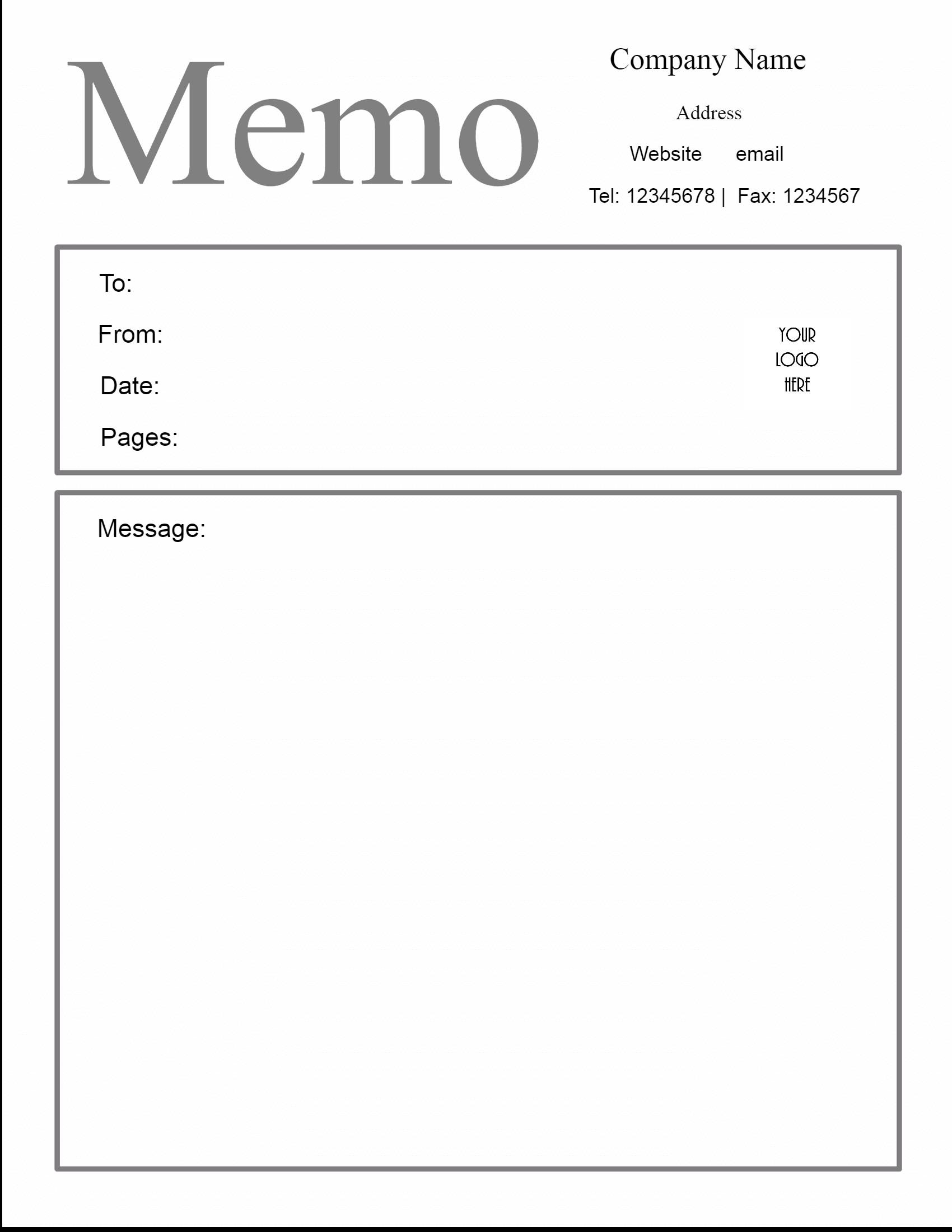 Microsoft Word Memo Templates Free Microsoft Word Memo Template