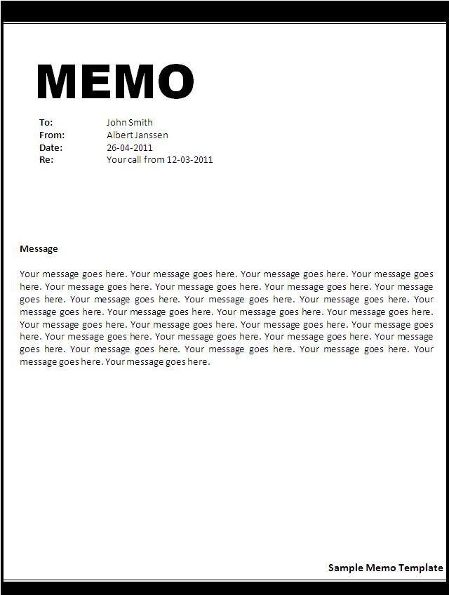 Microsoft Word Memorandum Template Memo Template