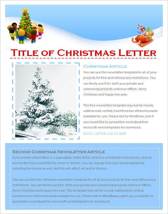 Microsoft Word Newsletter Templates Free 27 Christmas Newsletter Templates Free Psd Eps Ai