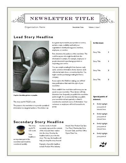 Microsoft Word Newsletter Templates Free Free Newsletter Template for Word 2007 and Later