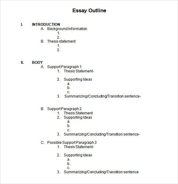 Microsoft Word Outline Template Sample Blank Outline Template 7 Free Documents In Pdf Doc