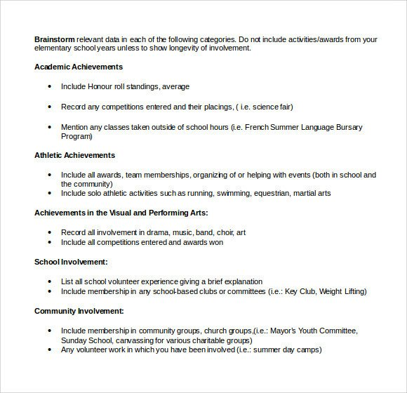 Microsoft Word Outline Template Sample Microsoft Resume 9 Documents In Word
