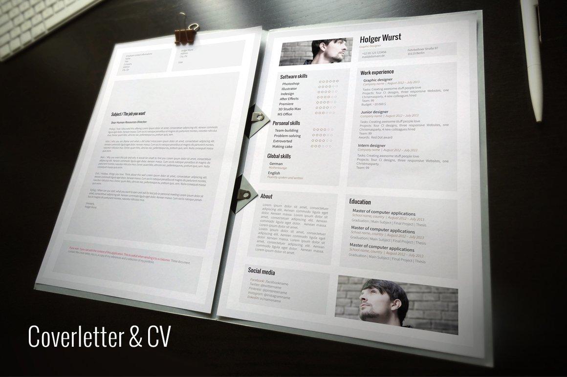 Microsoft Word Portfolio Template Cv Cover Letter Portfolio Template Cover Letter