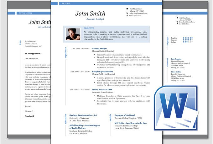 Microsoft Word Portfolio Template Design Clean Professional Resume Cv Template Word Fiverr