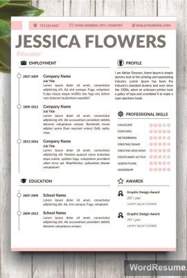 Microsoft Word Portfolio Template Home Creative Resume Templates
