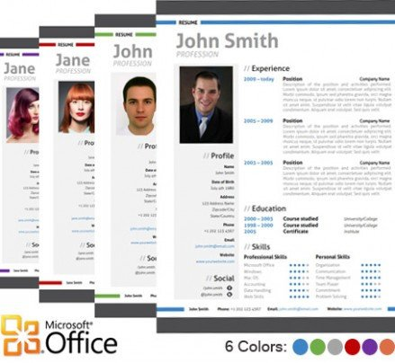 Microsoft Word Portfolio Template Modern Resume Template Cover Letter Portfolio