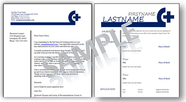 Microsoft Word Portfolio Template Nursing Resume Templates