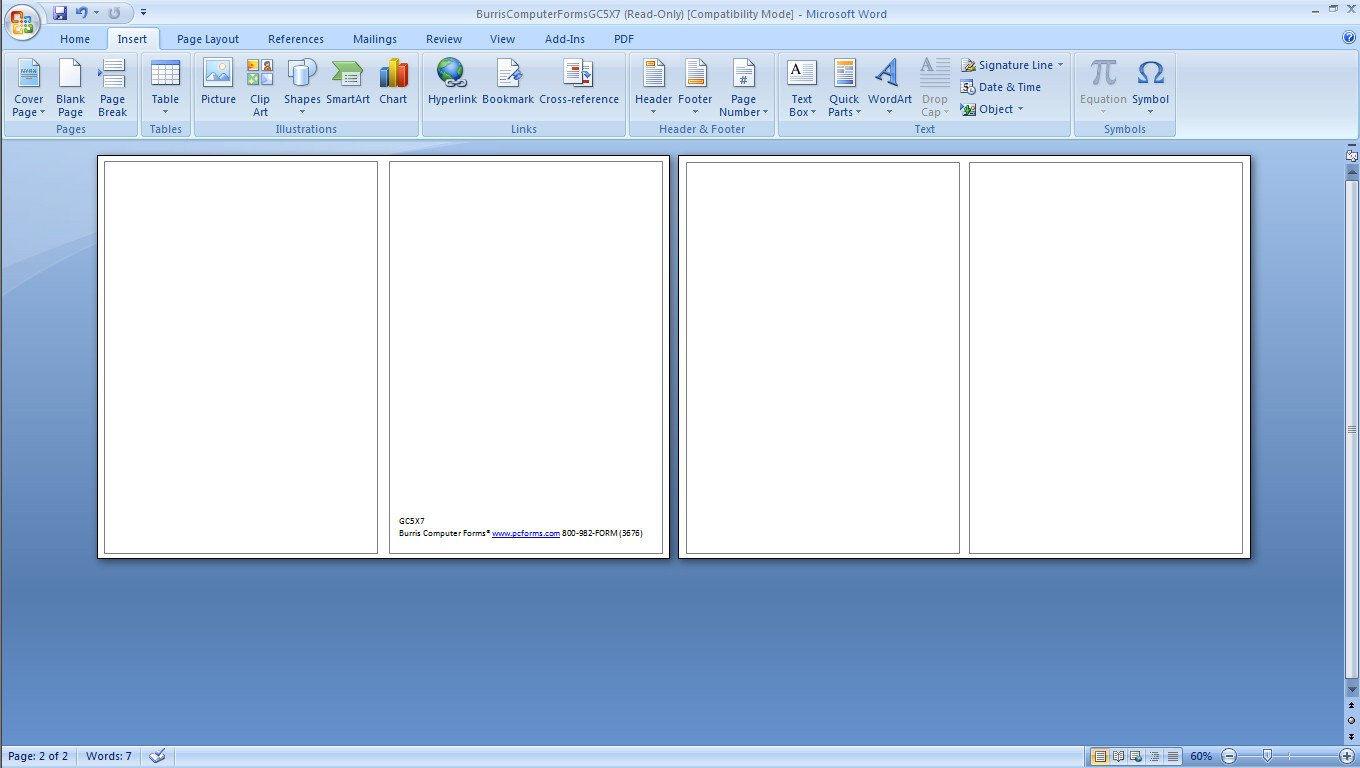 Microsoft Word Postcard Template How to Print Your Own Holiday Cards Burris Puter forms