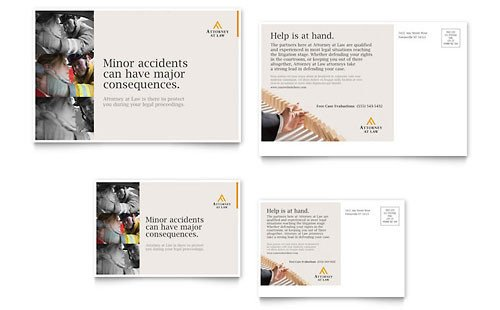 Microsoft Word Postcard Template Professional Services Postcard Templates Word & Publisher