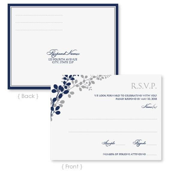 Microsoft Word Postcard Template Wedding Rsvp Postcard Template Instant Download by