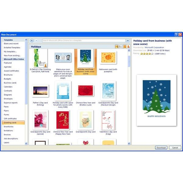 Microsoft Word Postcard Template where to Find Free Microsoft Fice Greeting Card Templates