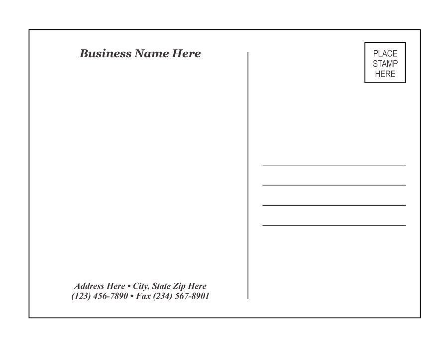 Microsoft Word Postcard Templates 40 Great Postcard Templates & Designs [word Pdf]