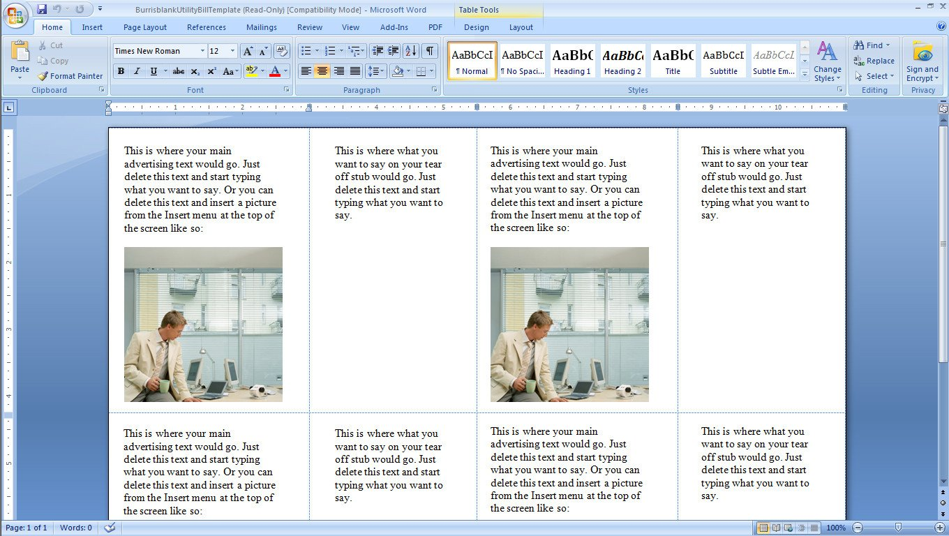 Microsoft Word Postcard Templates How to Print Your Own Postcard Mailers Burris Puter