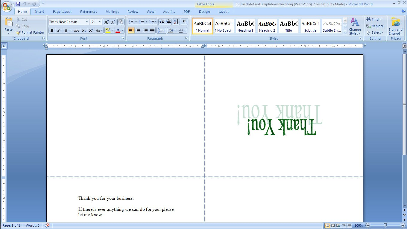Microsoft Word Postcard Templates How to Print Your Own Tent Cards In Microsoft Word