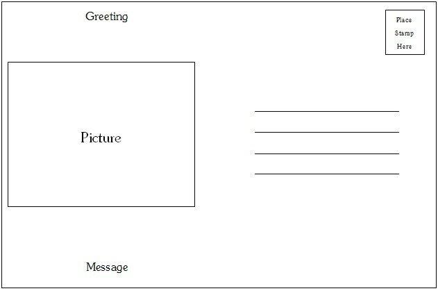 Microsoft Word Postcard Templates Postcard Template Category Page 1 Efoza