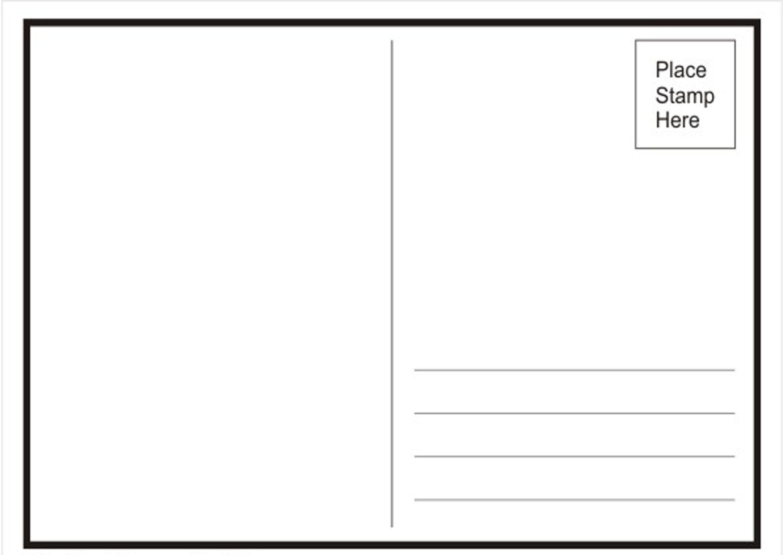 Microsoft Word Postcard Templates Postcard Template Word