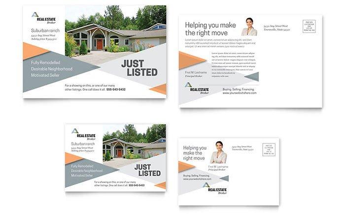 Microsoft Word Postcard Templates Realtor Postcard Template Word & Publisher