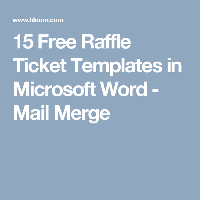 Microsoft Word Raffle Ticket Template 15 Free Raffle Ticket Templates In Microsoft Word Mail