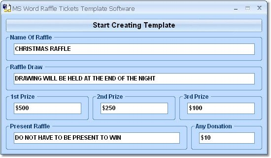 Microsoft Word Raffle Ticket Template Ms Word Raffle Tickets Template software