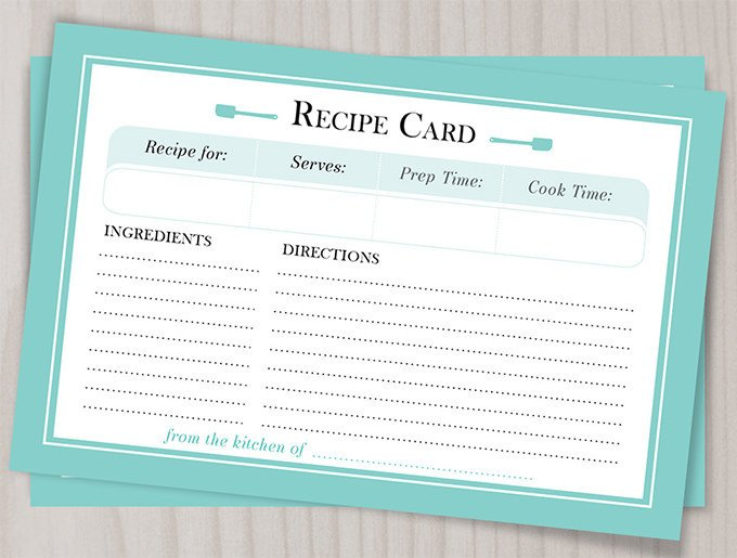 Microsoft Word Recipe Card Template 43 Amazing Blank Recipe Templates for Enterprising Chefs