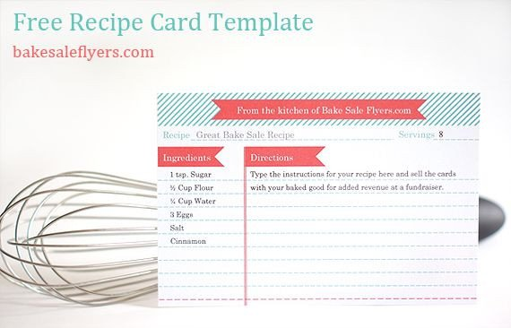 Microsoft Word Recipe Card Template Free Recipe Card Template You Can Type In Your Recipe In