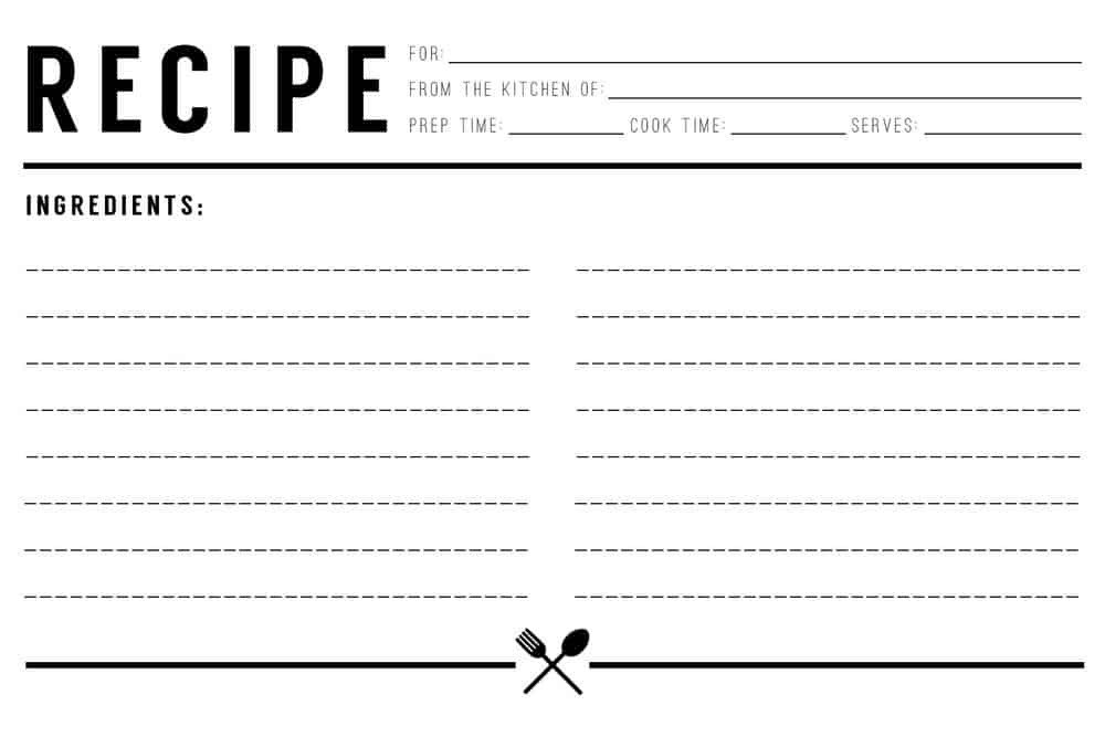 Microsoft Word Recipe Template 13 Recipe Card Templates Excel Pdf formats