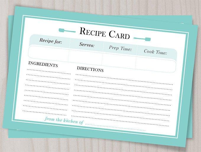 Microsoft Word Recipe Template 43 Amazing Blank Recipe Templates for Enterprising Chefs