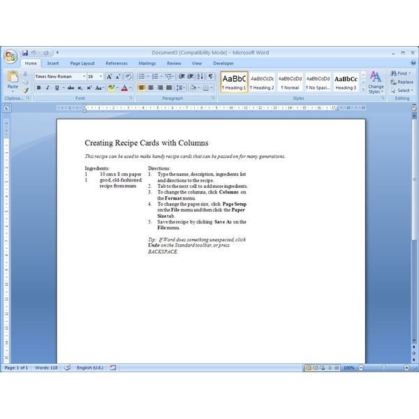 Microsoft Word Recipe Template Finding Microsoft Word Recipe Templates