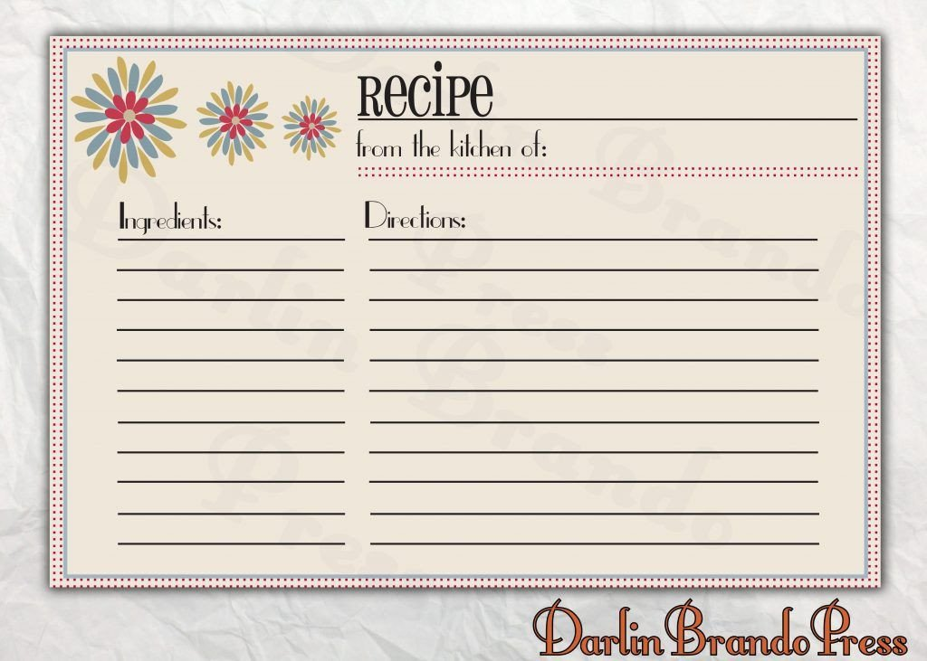 Microsoft Word Recipe Template Free Editable Recipe Card Templates for Microsoft Word
