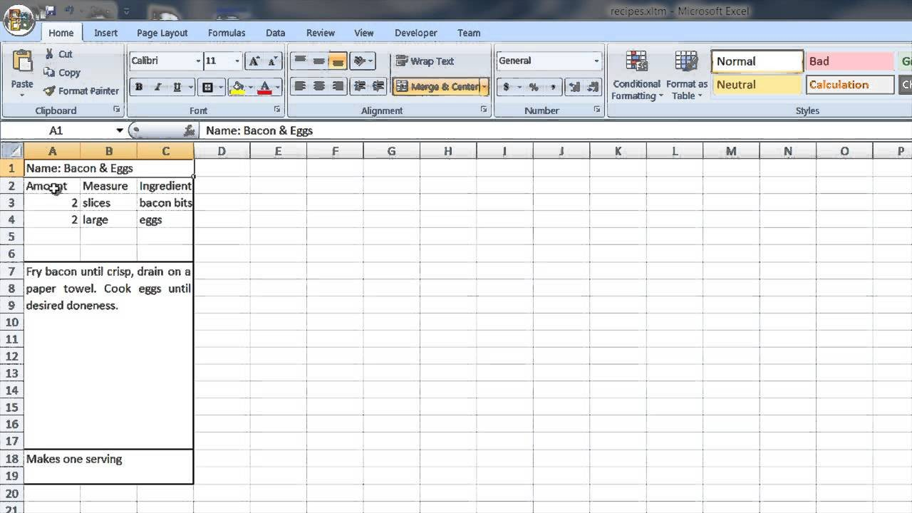 Microsoft Word Recipe Template How to Create A Recipe Template In Word & Excel Puter