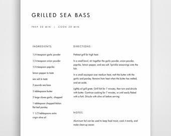 Microsoft Word Recipe Template Recipe Book