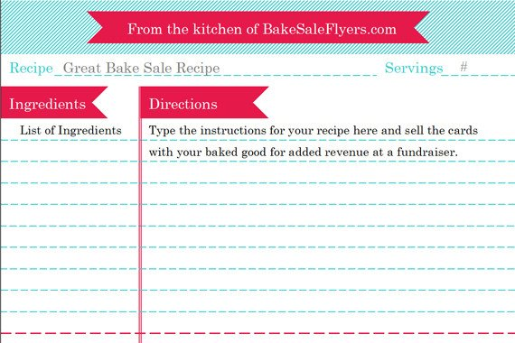 Microsoft Word Recipe Template Recipe Card Template